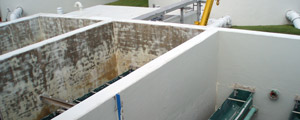 concrete tank lining system