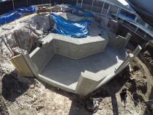 Concrete Otter Tank prior to coating